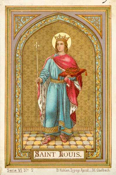Louis IX de France, Saint Louis, roi de France (+ 1270) dans images sacrée